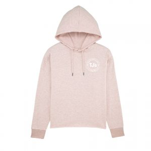 Lady pink hoodie front